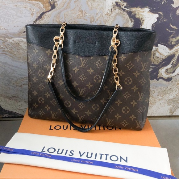 32cf1532e88 Louis Vuitton Bags   Monogram Pallas Black Shopping Tote   Poshmark